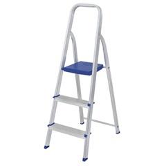 Escada de Alumínio 3 Degraus Uso Doméstico - MOR