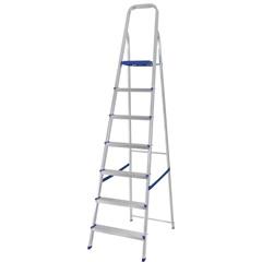 Escada de Alumínio 7 Degraus Uso Doméstico - MOR