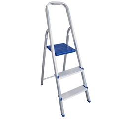 Escada Doméstica com 3 Degraus Prateada - Bel Fix