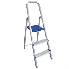 Escada Doméstica com 5 Degraus Prateada - Bel Fix