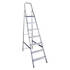 Escada Doméstica com 7 Degraus Prateada - Bel Fix
