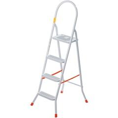 Escada Doméstica em Aço com 4 Degraus Branca - Utimil
