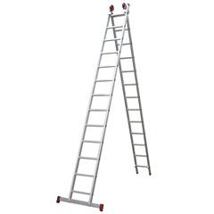 Escada em Alumínio Extensiva 13x2 com 26 Degraus Cinza - Botafogo