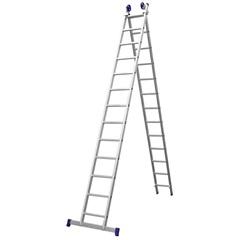 Escada Extensiva em Alumínio com 13 Degraus Prateada - Bel Fix