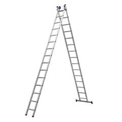 Escada Extensiva em Alumínio com 15 Degraus Prateada - Bel Fix