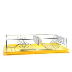 Escorredor de Louça Cromado com Bandeja Plástica Amarela - Wireking