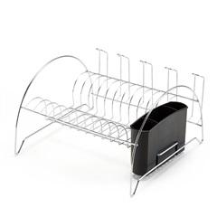 Escorredor de Louças com Porta Copos 34x19,3cm Cromado - Arthi