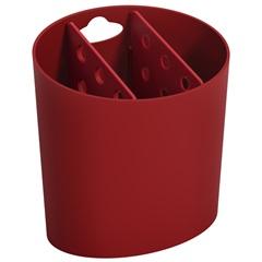 Escorredor de Talheres Oval Basic 14,4x10,5cm Vermelho Bold - Coza