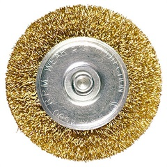 Escova Circular em Aço 60mm Dourada - MTX