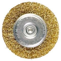 Escova Circular em Aço 75mm Dourada - MTX