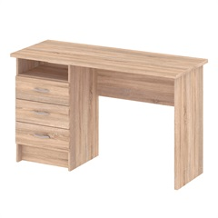 Escrivaninha em Mdp Function com 3 Gavetas 120x48cm Oak Tiv - Casa Etna