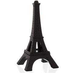Escultura Decorativa em Cerâmica Torre Eiffel 39cm Preta - Casa Etna