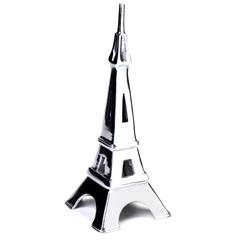 Escultura em Alumínio Torre Eiffel Liat 36cm Prata - Casa Etna