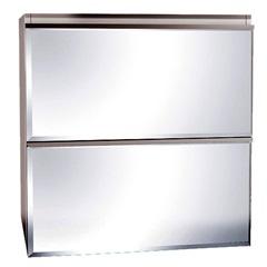 Espelheira Blumenau Quadrada 60cm Branca - Bumi Móveis