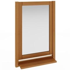 Espelheira em Madeira Smile 70x50cm Jatobá - Mão e Formão