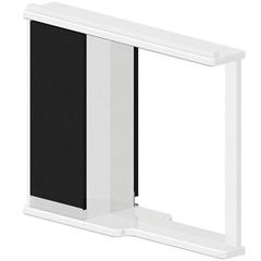 Espelheira em Mdf Azzira 65x81cm Branco E Preto - Bonatto
