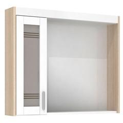 Espelheira em Mdf com Luminária Imola 67,5x60cm Branca - Darabas Agardi