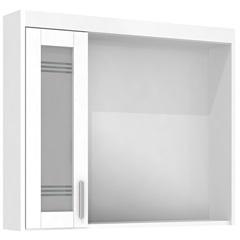 Espelheira em Mdf com Luminária Imola 67,5x80cm Branca - Darabas Agardi