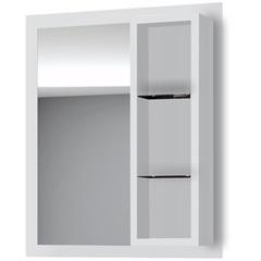Espelheira em Mdf com Prateleira Safira 90x75cm Branca - Gaam