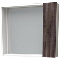 Espelheira em Mdf Iara 52,4x60cm Branco E Dakota - Cozimax
