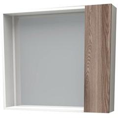Espelheira em Mdf Iara 52,4x60cm Branco E Tamarindo - Cozimax