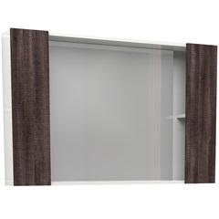 Espelheira em Mdf Iara 52,4x80cm Branco E Dakota - Cozimax