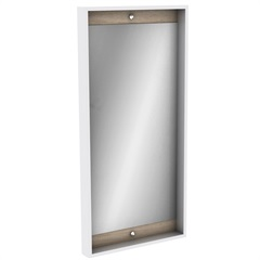 Espelheira em Mdf Módena 99,5x48cm Mezzo Blanco - Darabas Agardi