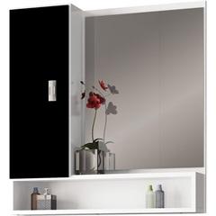 Espelheira em Mdf Orquídea 60x57cm Preta - Cozimax