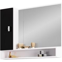 Espelheira em Mdf Orquídea 60x76cm Preta - Cozimax