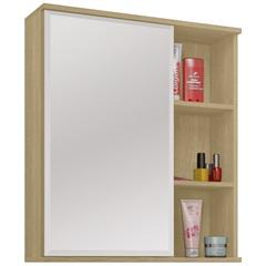 Espelheira em Mdf Treviso 60x60cm Nogueira - MGM Móveis