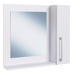 Espelheira para Banheiro com Porta Branco 54x60x15cm - Estilare Móveis