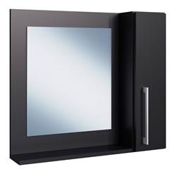Espelheira para Banheiro com Porta Preto 54x60x15cm - Estilare Móveis