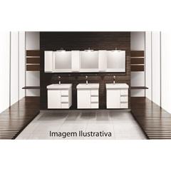 Espelheira Slim Box 23cm Lado Direito Branca - Bumi Móveis