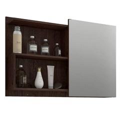 Espelheira Suspensa para Banheiro Lis 54x80cm Café - MGM