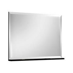 Espelheira Yes Preto 80cm         - Bumi Móveis