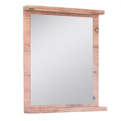 Espelheira Zurique 73x60cm Amêndoa - Irmãos Corso