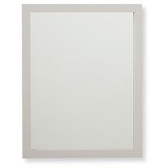 Espelho com Moldura em Madeira Linea 34x44cm Branco - Casa Etna