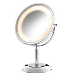 Espelho de Aumento de Mesa com Iluminação Cromado 110v
