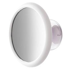 Espelho de Parede com Ventosa Plug Branco - Crysbell