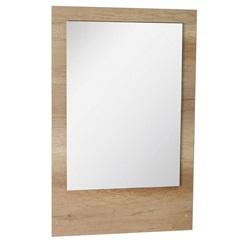 Espelho de Parede em Mdf Vitória 98x62cm Carvalho - Irmãos Corso