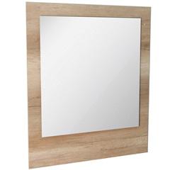 Espelho de Parede em Mdf Vitória 98x82cm Carvalho - Irmãos Corso