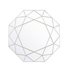Espelho de Parede Octogonal Urban 55x55cm Prata Gold - Evolux