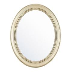 Espelho de Parede Oval Vinty 70x56cm Dourado - Evolux