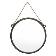 Espelho de Parede Redondo Adnet 48cm Marrom - Royal Decor