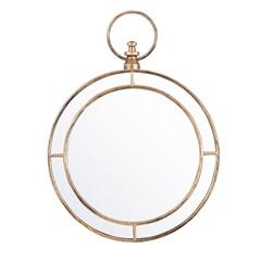 Espelho de Parede Redondo Nordic 59x44cm Ouro Velho - Evolux