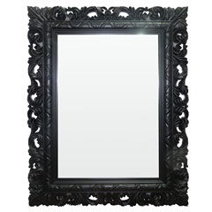 Espelho de Parede Rocco 51x66cm Preto - Conthey