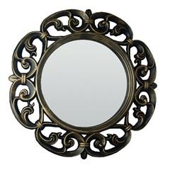 Espelho de Parede Vênus 60x60cm Dourado Velho - Conthey