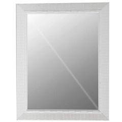 Espelho Decora Rattan 49x39cm Branco - Casa Etna