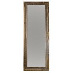 Espelho Emoldurado em Mdf 44x122cm Madeira Ouro - Euroquadros