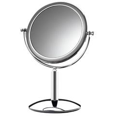 Espelho para Bancada Dupla Face Platine Cromado - Crysbell